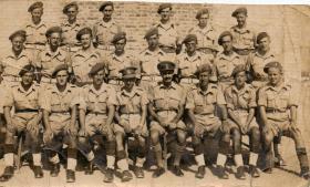 Group photograph including Gunner Elliott Cairo 9 August 1946