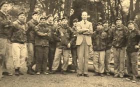 Group photo of 1 PARA Canoe Team for the Devizes to Westminster Canoe Race, 1961