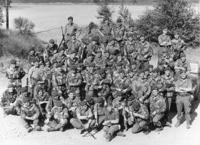 Group photo of 16 (Lincoln) Independent Coy on summer camp in Vogelsang, Germany, 1975