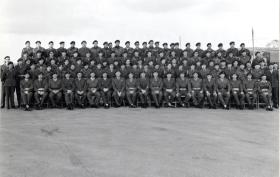 Group photo of 289 Parachute Regiment RHA, Otterburn, 1966