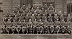 Group photograph of the Corporals' Mess, Airborne Forces Depot, c.1952