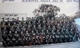 Group photo of Depot PARA Sergeants Mess, Airborne Forces Day, Aldershot, 1978