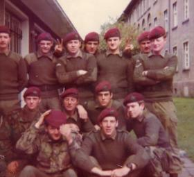 Group photo of members of 6 Platoon, B Coy, 15 PARA, 1970s