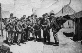 Group photo of members of Rodney Platoon, C Company, 2 PARA on camp, Cyprus, 1959