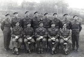 Group photograph of Warrant Officers and Sergeants of 16 Para Workshops REME, Waterloo Barracks, c.1957