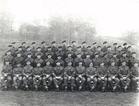 Group photograph of 16 Para Workshops REME, Waterloo Barracks, Aldershot, c.1957