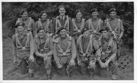 Group photo of a section on course B172 RAF Ringway, July 1945