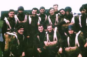Members of Guards Para Company prior to emplaning
