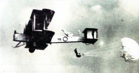Early example of military parachuting.