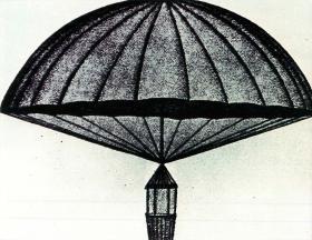 Prototype of animal parachute.
