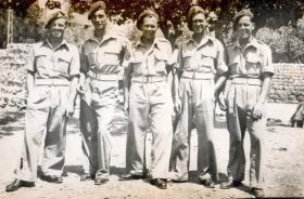 Members of the 211 Airlanding Light Battery RA, Haifa, Palestine, 2 May 1946.