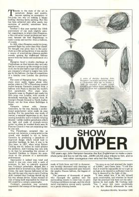 Article from Aeroplane Monthly about early parachutist John Hampton.