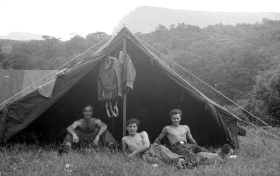 Camping in Wales, 1958