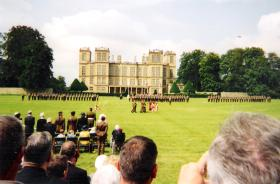 The presentation of Colours to 4 PARA, Hardwick Hall, 30 July 2004.
