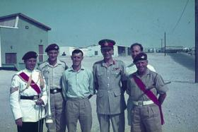 Lt. General Harrington (former CO 1 Para) with some who served with him, in Bahrain 1964