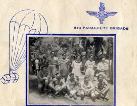Harry Marshall (centre of back row) & friends in 5th Para Brigade c1945