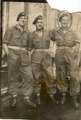 Harry Marshall (on the right) and mates in the Far East c1945