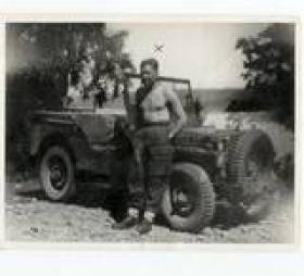 Tpr Chalky White and Jeep Norway 1945