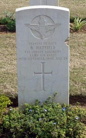 Pte O Hatfield, Dehli War Cemetery, India, February 2015.