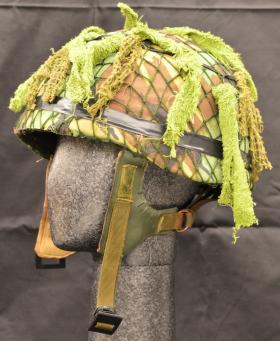 Helmet, Parachutist from the Airborne Assault Museum Collection, Duxford.