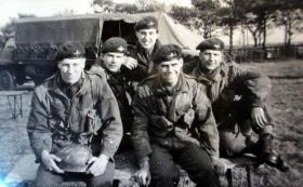 Coldstream Guards members of No 1 (Guards) Indep Para Company, Newcastle, 1957.