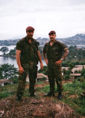 'Bob' Hilton and Mark Chadwick, D Coy, 2 PARA, Sierra Leone, May 2000.