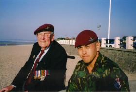 Normandy 60th Anniversary Barney Ross 9th Btn 6th AB Div and Mark Magreehan
