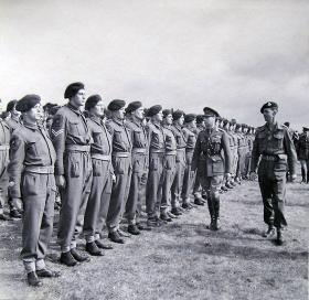 HM King George VI inspects 2nd Battalion South Staffordshire Regiment, 2 April 1943.