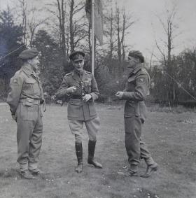 King George VI with Maj-Gen Hopkinson & Brig Down, Bulford, 2 April 1943