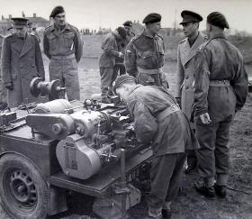 HM The King's visit to 261 Fld Pk Coy, RE, March 1944