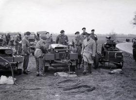 HM The King visits 261 Fld Pk Coy and inspects their equipment, March 1944