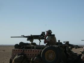 Heavy Machine Gun mounted on a WMIK, Afghanistan, Op Herrick IV, 2006.