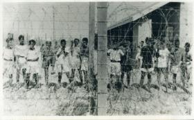 HMIS Hindustan crew members in captivity after the incident, February 1946