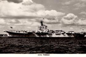 HMS Theseus sailing to Cyprus with 16th Parachute Brigade