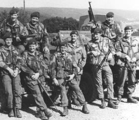 Members of 16 (Lincoln) Independent Coy, Germany, 1975.