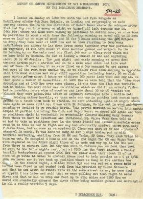 Sergeant Hollobone's experience of Arnhem.