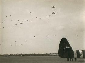 1st Parachute Brigade at drop zone 'X-Ray' at 2.30pm, September 17th after gliders have landed.