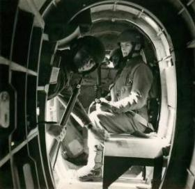 Troops inside a Hotspur Glider.
