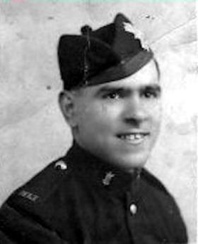 Harry Houghton in his Highland Light Infantry uniform