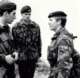 HRH The Prince of Wales chatting with Sgt Tom Herring.