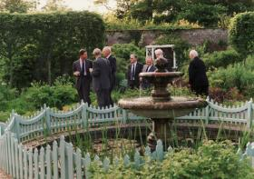 Airborne Forces veterans with HRH Prince of Wales at Highgrove 1990s