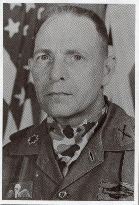 Hugh McWhinnie, wearing his British wings on his US uniform, date unknown.