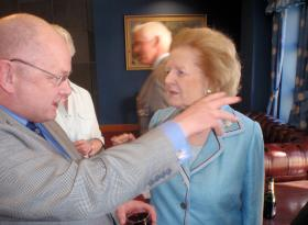 Dr Steve Hughes with Baroness Thatcher 2009