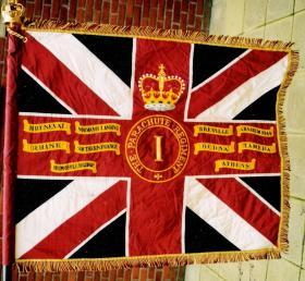 The Colours of the 1st Battalion, The Parachute Regiment.
