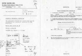 Steve 'Yank' Thayer's Support Weapons Wing (SWW) Range Authorization Qualification, 1984