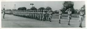 156 Parachute Battalion march past. Air Landing School, New Delhi.