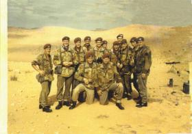 Members of Medium Machine Gun Platoon  2 PARA Libya c1960