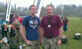 Aldershot Paras 10 mARCH 2013. End of tab self and son Tom