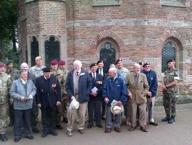 Group photo of John Waddy's and Bob Kershaw's battlefield tour, Arnhem, September, 2012.