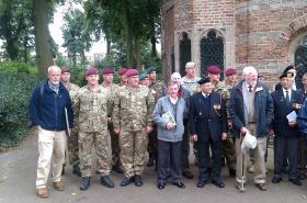 Group photo of John Waddy's and Bob Kershaw's battlefield tour, Arnhem, September, 2012.